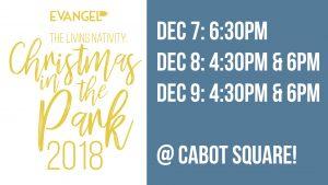 The Living Nativity: Christmas In The Park @ Square Cabot | Montréal | Québec | Canada