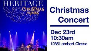 Héritage Musique: Christmas Concert @ Evangel Pentecostal Church | Montréal | Québec | Canada
