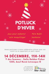 Potluck d'hiver @ Y des femmes (salle Holden-Fisher)   Montréal   Québec   Canada